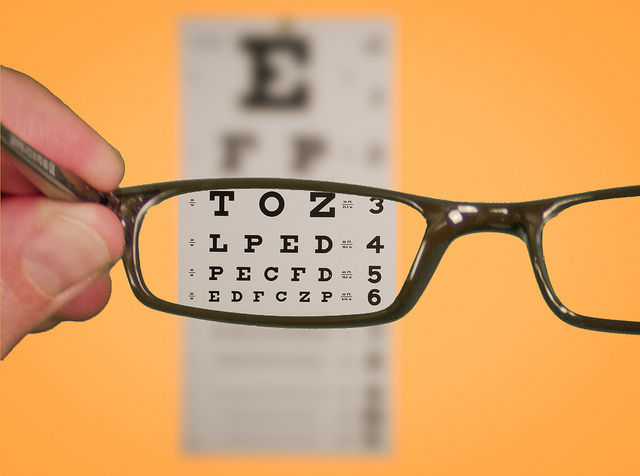 "This photo (click photo for link), ""Vision of Eyechart with Glasses"" is copyright (c) 2011 Ken Teegardin and made available under a Attribution-ShareAlike 2.0 license (http://creativecommons.org/licenses/by-sa/2.0/legalcode)."
